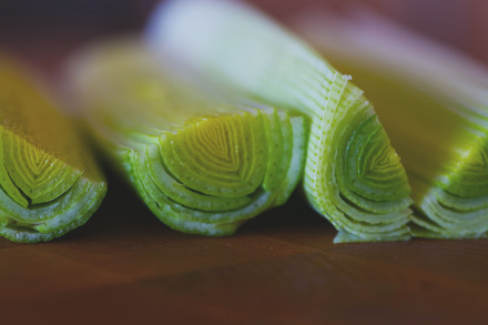 leek close-up