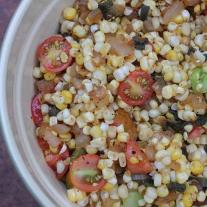 Raw & Charred Corn Salad