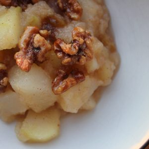 Apple & Pear Compote with Maple-Candied Walnuts