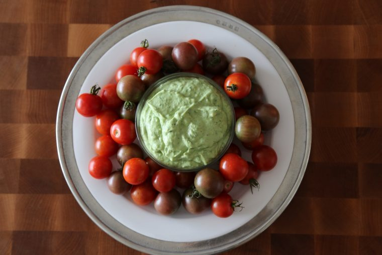 Basil Green Goddess Dressing & Slow Roasted Tomatoes