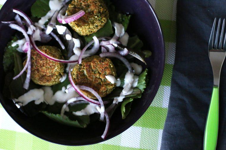 Baked Falafel w/ Tahini Yogurt