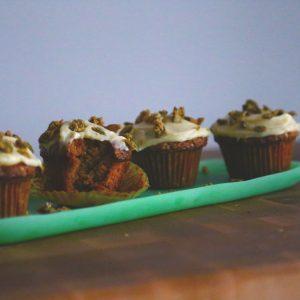 Pumpkin Spice Cake w/ Mascarpone Frosting & Candied Pepitas