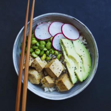 Miso Tofu & Brown Rice Bowl