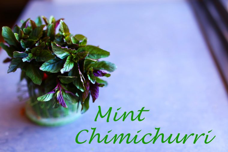 Mint Chimichurri is a new and improved addition to traditional easter lamb (or any meat for that matter).