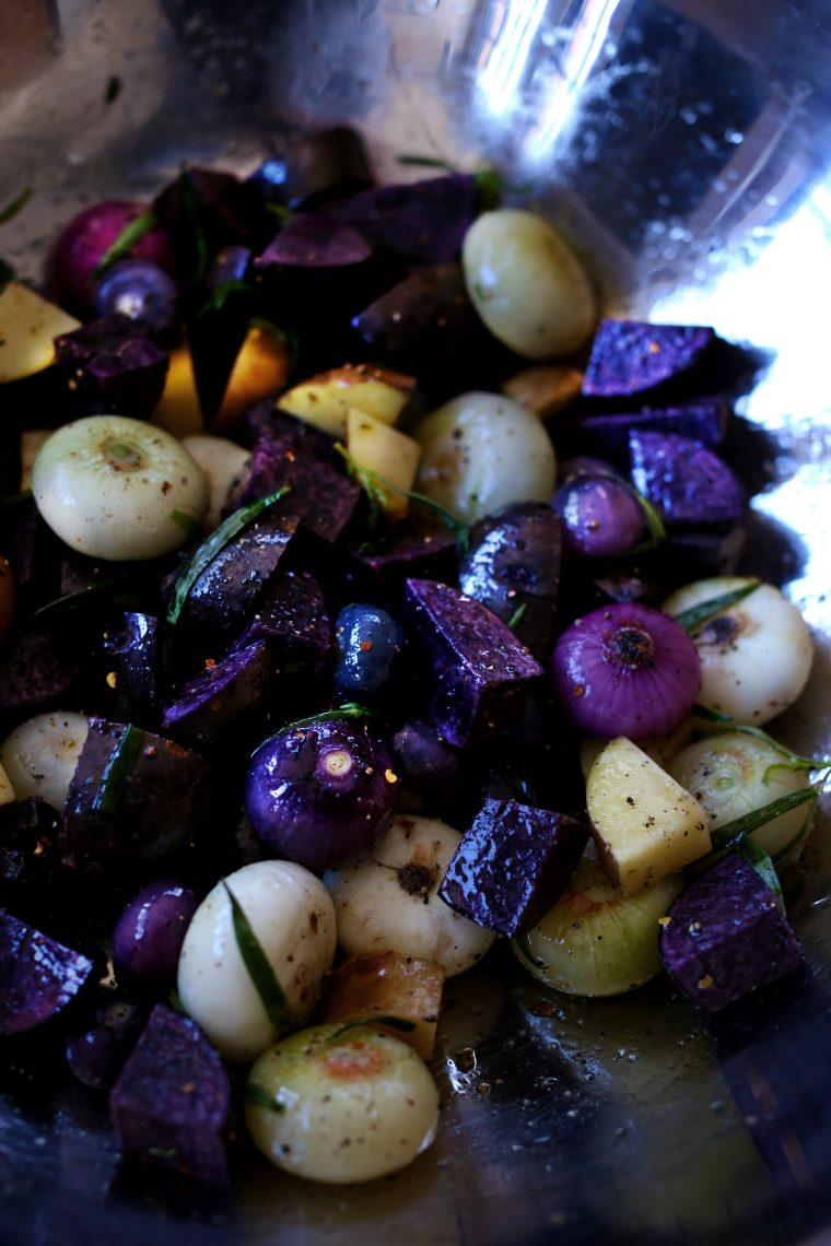 Herb Roasted Potatoes and Onions to go with your Easter Lamb.