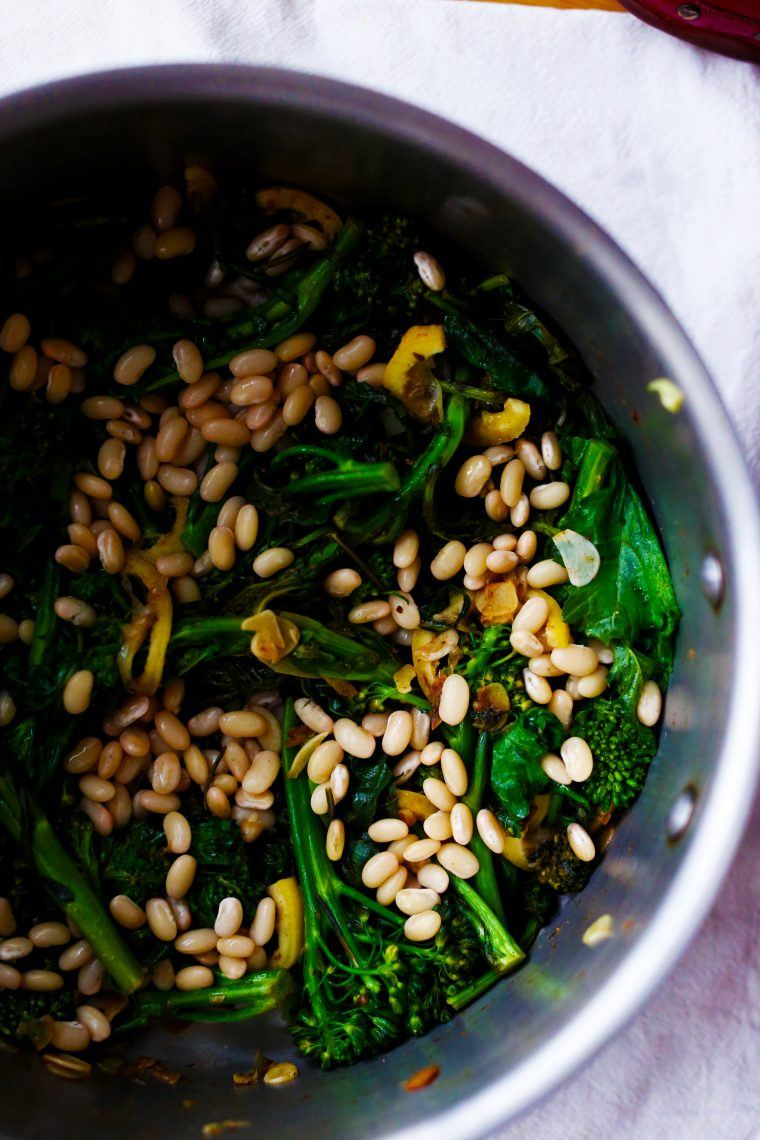 Orecchiette w/ White Beans, Broccoli Rabe & Lemon