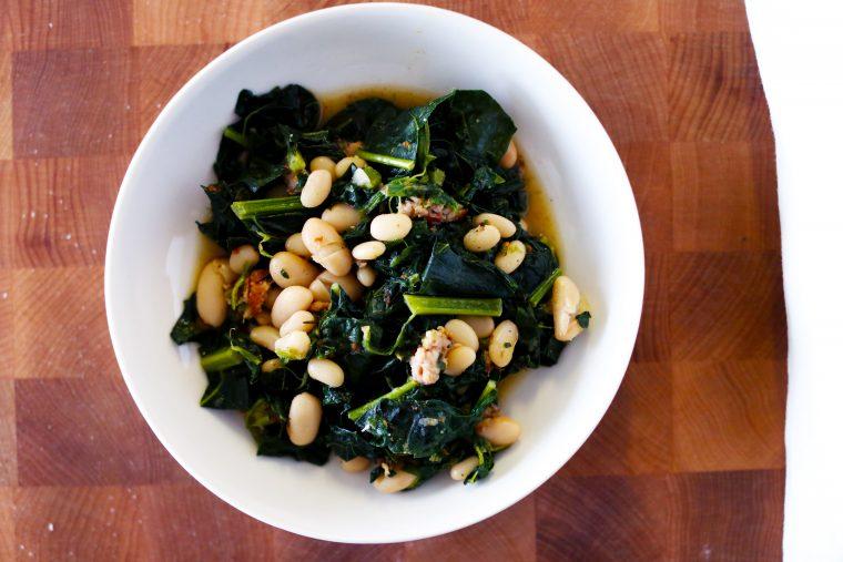 White Beans & Braised Greens