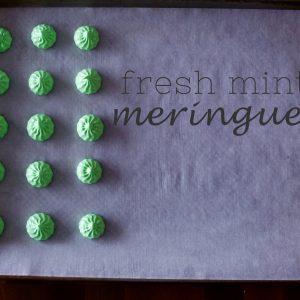 Fresh Mint Meringues
