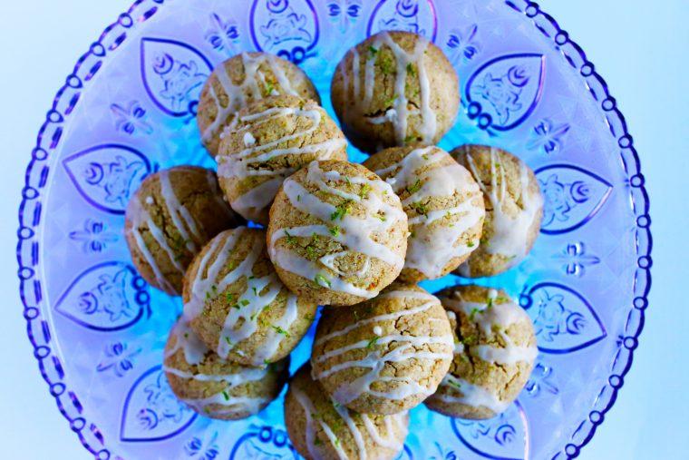 Zesty Lime Shortbread Cookies