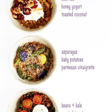 One pot of farro covers breakfast, lunch and dinner!