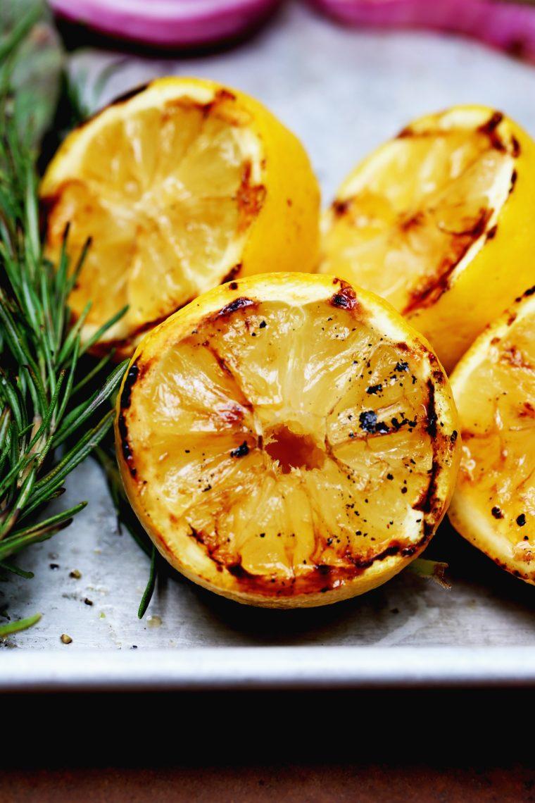Grilled Potato Salad Recipe w/ Charred Lemon Dressing