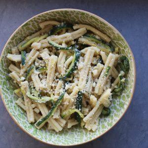 Zucchini Pasta w/ Parmesan & Black Pepper