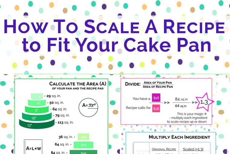 How to Scale A Recipe to Fit Your Cake Pan