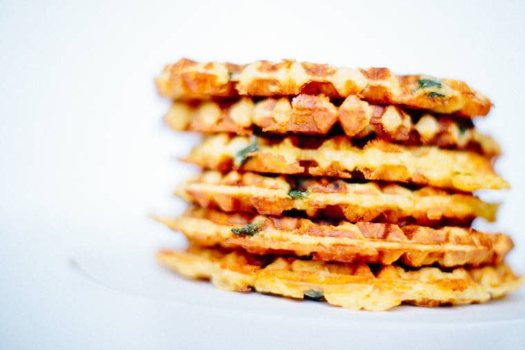Fried Chicken Spicy Cheddar Waffles