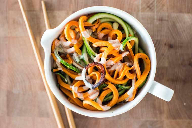 Spicy Sesame Noodles (of the Vegetal Variety)