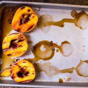 Grilled Peaches & Ice Cream
