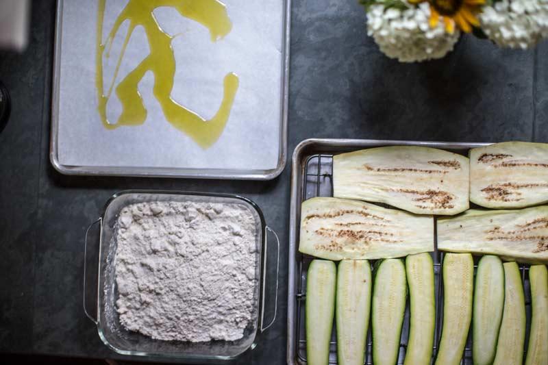 Zucchini and Eggplant Parmesan