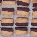 dark chocolate dipped shortbread cookies