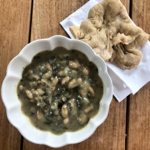 White Bean And Kale (Or clean out the fridge) Soup